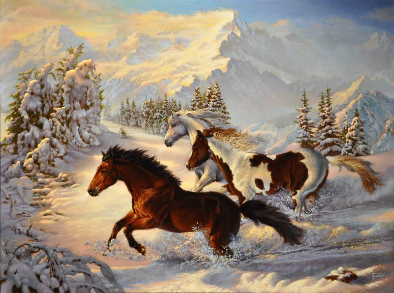 Holiday In The Snow Horses